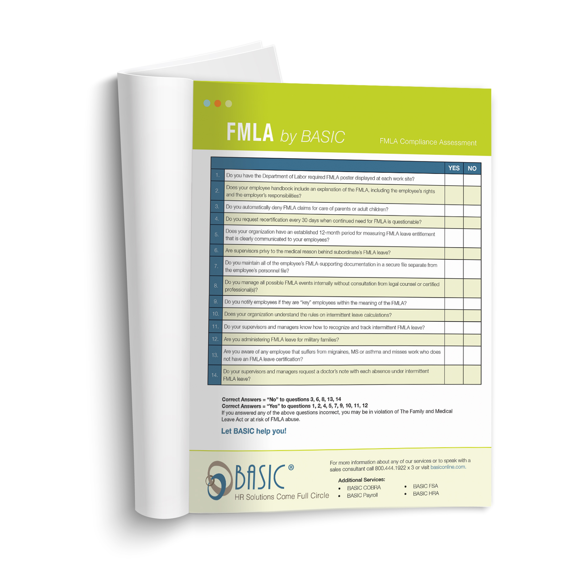 small booklet FMLA Compliance Assessment
