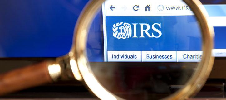 IRS webpage